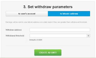 Langkah ke 2 Cara menghasilkan bitcoin melalui Anonymous Ads