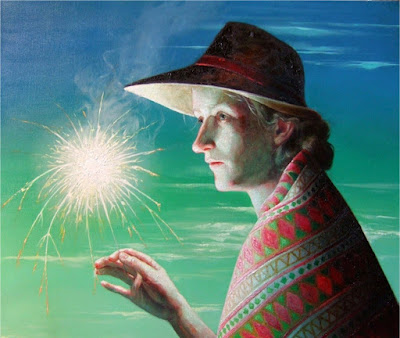 Woman With Sparkler (2009), Robin F. Williams