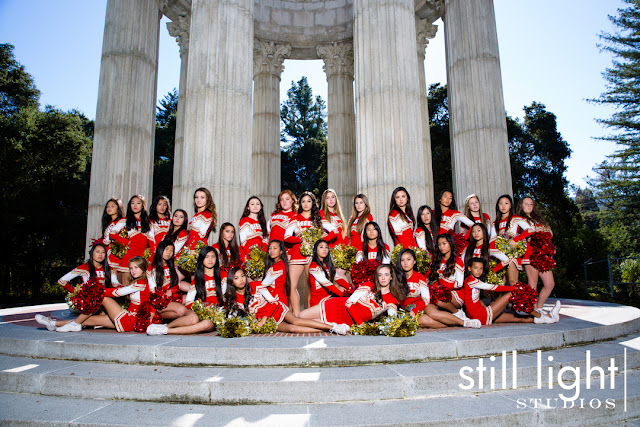 still light studios best sports school senior portrait photography bay area peninsula cheer team millbrae
