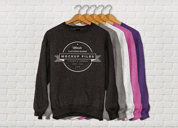 Jumper Clothing Mockup Template