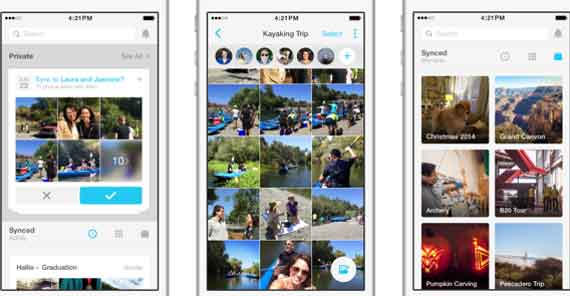 2016 Facebook pushes users to download Moments app