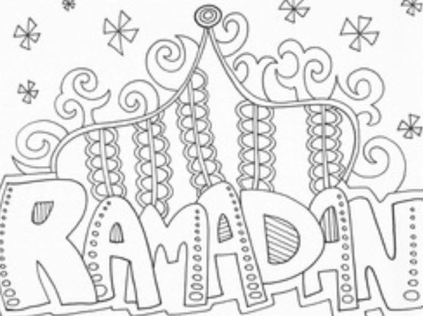 Gambar Mewarnai Ramadhan Bulan Ampunan Penuh Berkah