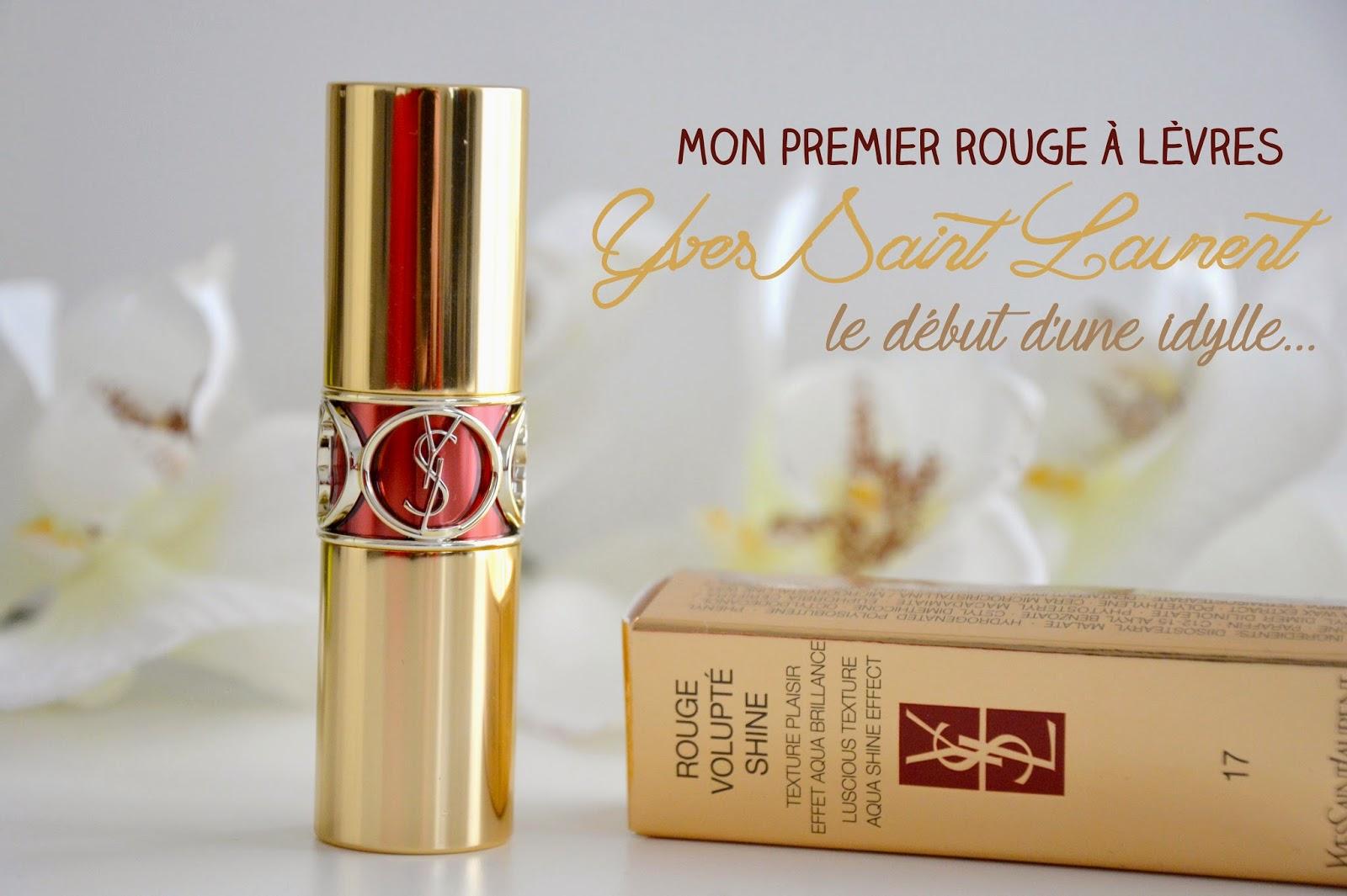 Mon premier rouge à lèvres Yves Saint Laurent