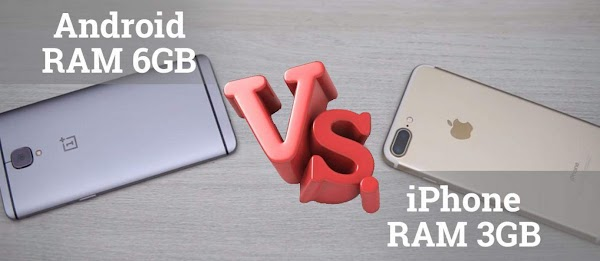 iPhone RAM 3GB vs Android RAM 6GB