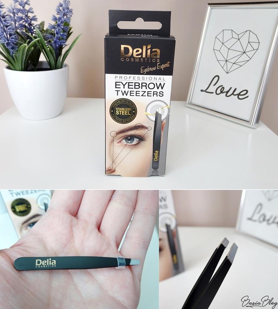 pęseta Delia Eyebrow Tweezers mała precyzyjna