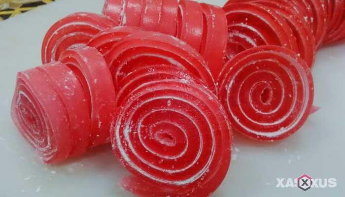 Resep cara membuat permen jelly gulung