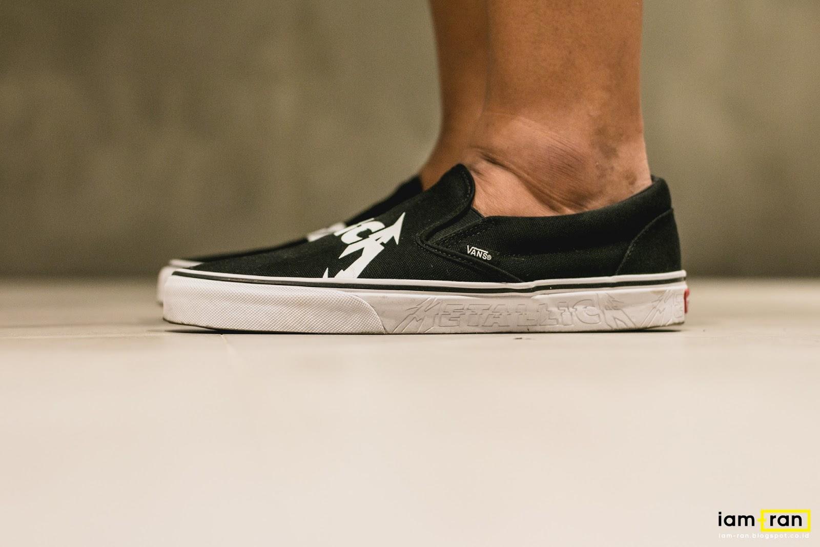 vans slip on on feet