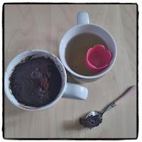 mug cake au chocolat et thé