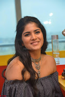 Mega Akash in a sleeveless Off Shoulder Cute Dress Stunnign beauty at Radio Mirchi Promoting Movie LIE ~ Celebrities Galleries 030.JPG