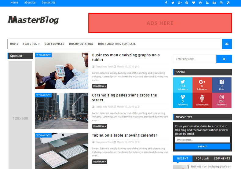 Top5 Free Blogger Templates 2019
