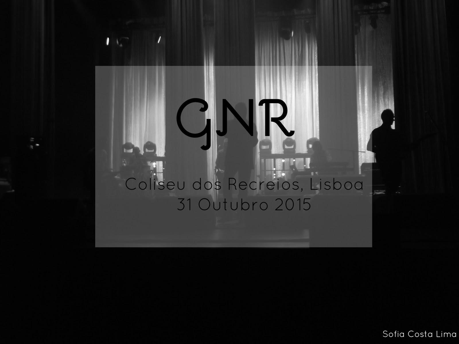 GNR ao vivo no Coliseu dos Recreios, Lisboa, 2015.