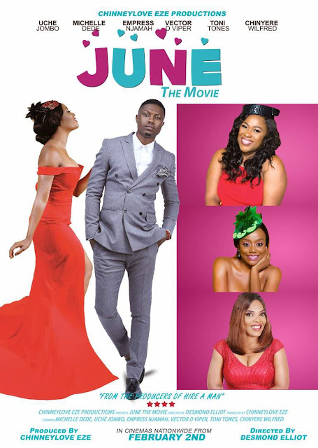 ChinneyLove Eze takes Cinemas just in time for Valentine with a Romantic-Comedy Movie 'JUNE'