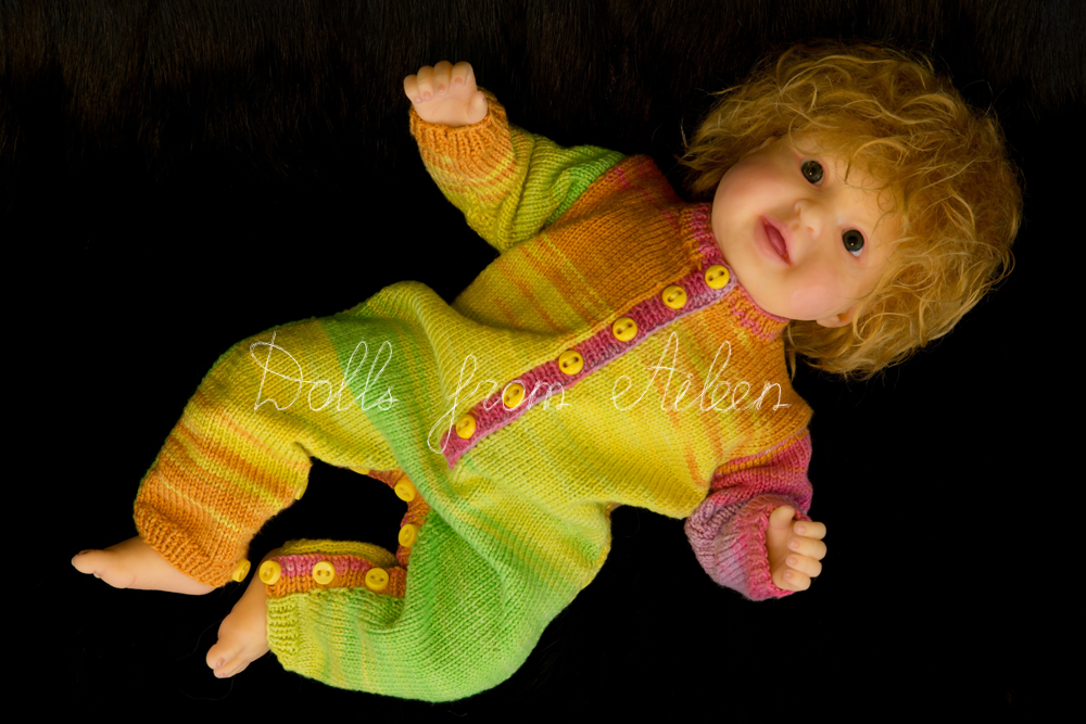 ooak posable baby doll with mohair wig