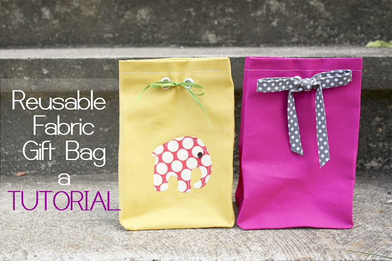 Zaaberry Fabric Gift Bag Tutorial