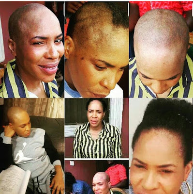 FATHIA BALOGUN SCRAPS OFF HER HAIR FOR MOVIE ROLE