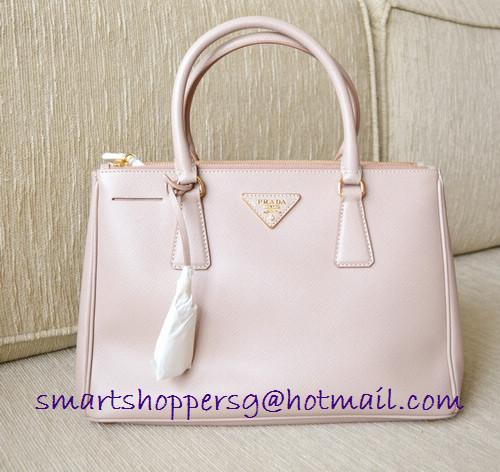 7f016814690dfa Queenie's bag boutique: PRADA saffiano Lux tote small size BN1801 in Cameo