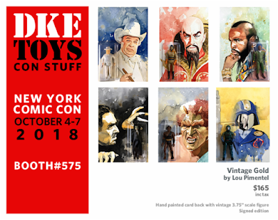New York Comic Con 2018 Exclusive Vintage Gold Action Figure & Painting Series by Lou Pimentel x DKE Toys