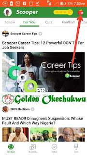 Refer a User to Scooper News App