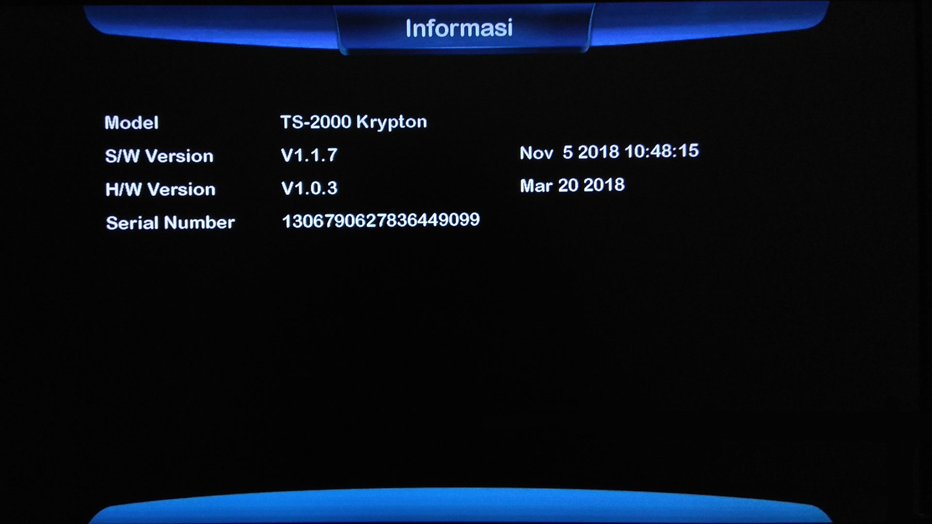 Firmware Technosat TS 2000 Krypton SW Software Receiver Terbaru