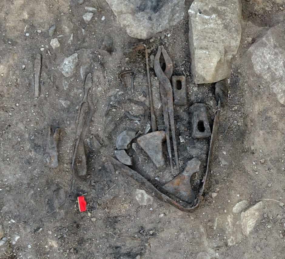 Viking blacksmith found buried with his tools