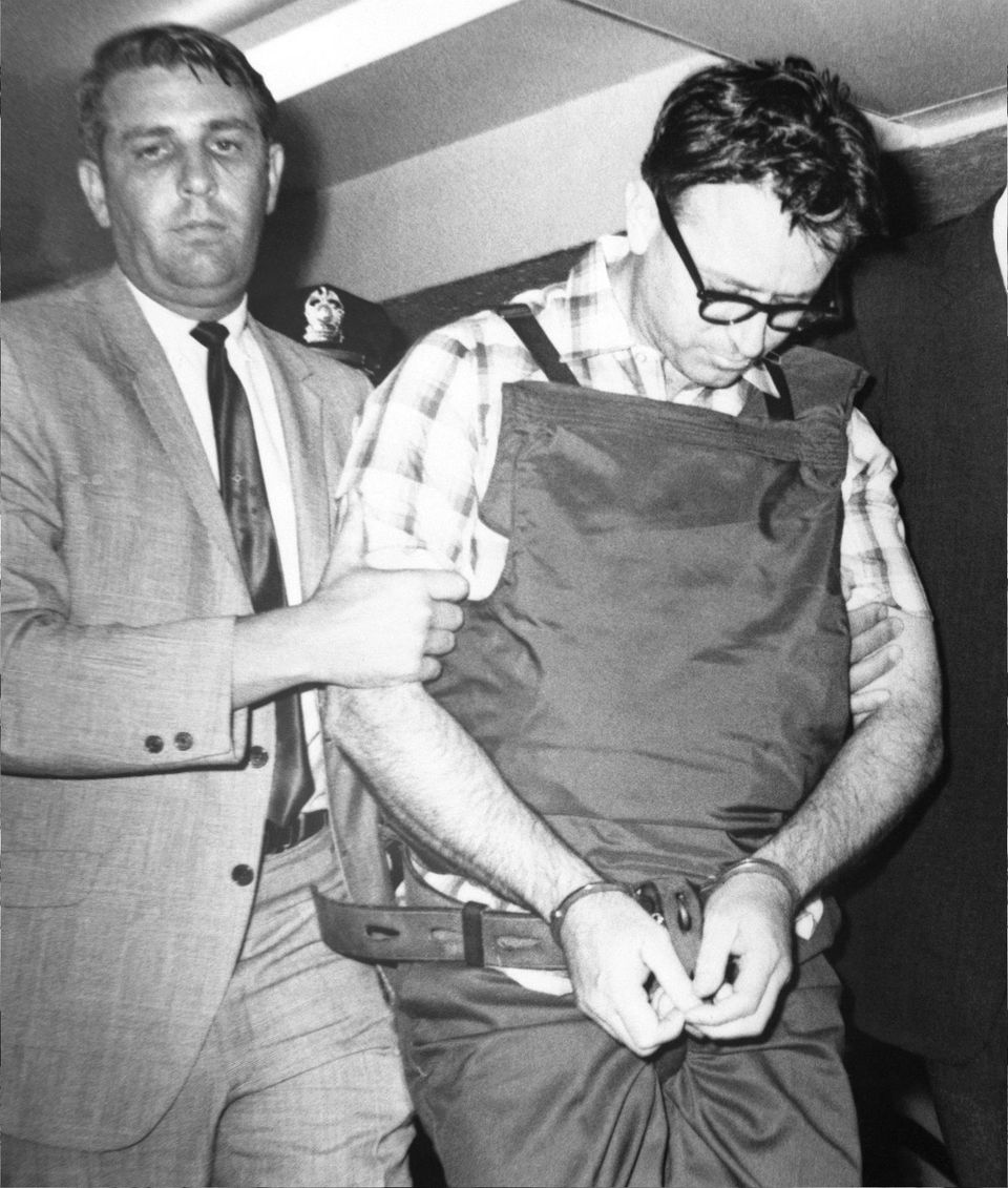 James Earl Ray, Martin Luther King's assassin, being led to his cell in Memphis after his arrest in London, June 8, 1968
