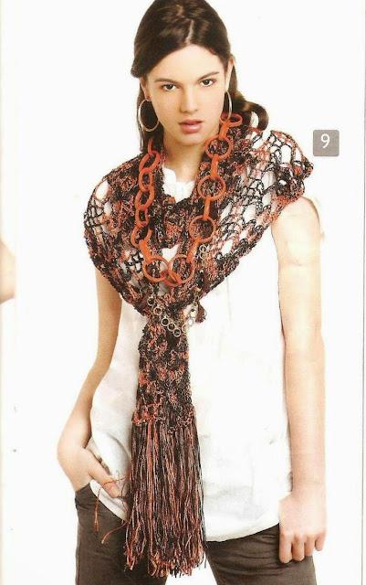 Patrón #1506: Bufanda a Crochet