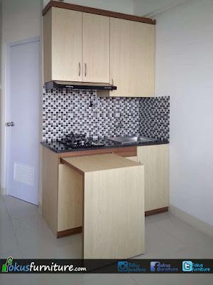 Kitchen set Apartemen Green Pramuka