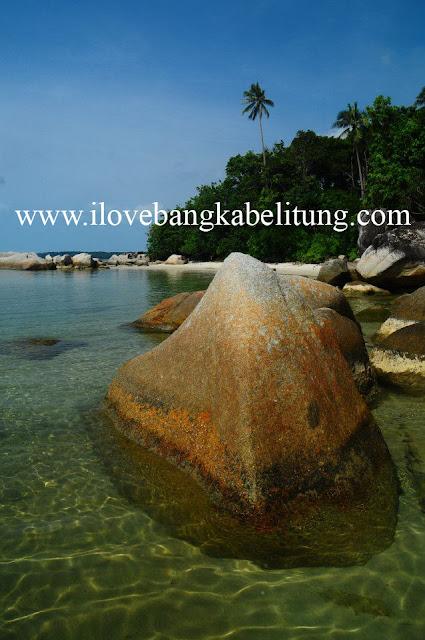 objek wisata Pantai Tanjung Kemirai toboali Kabupaten Bangka Selatan