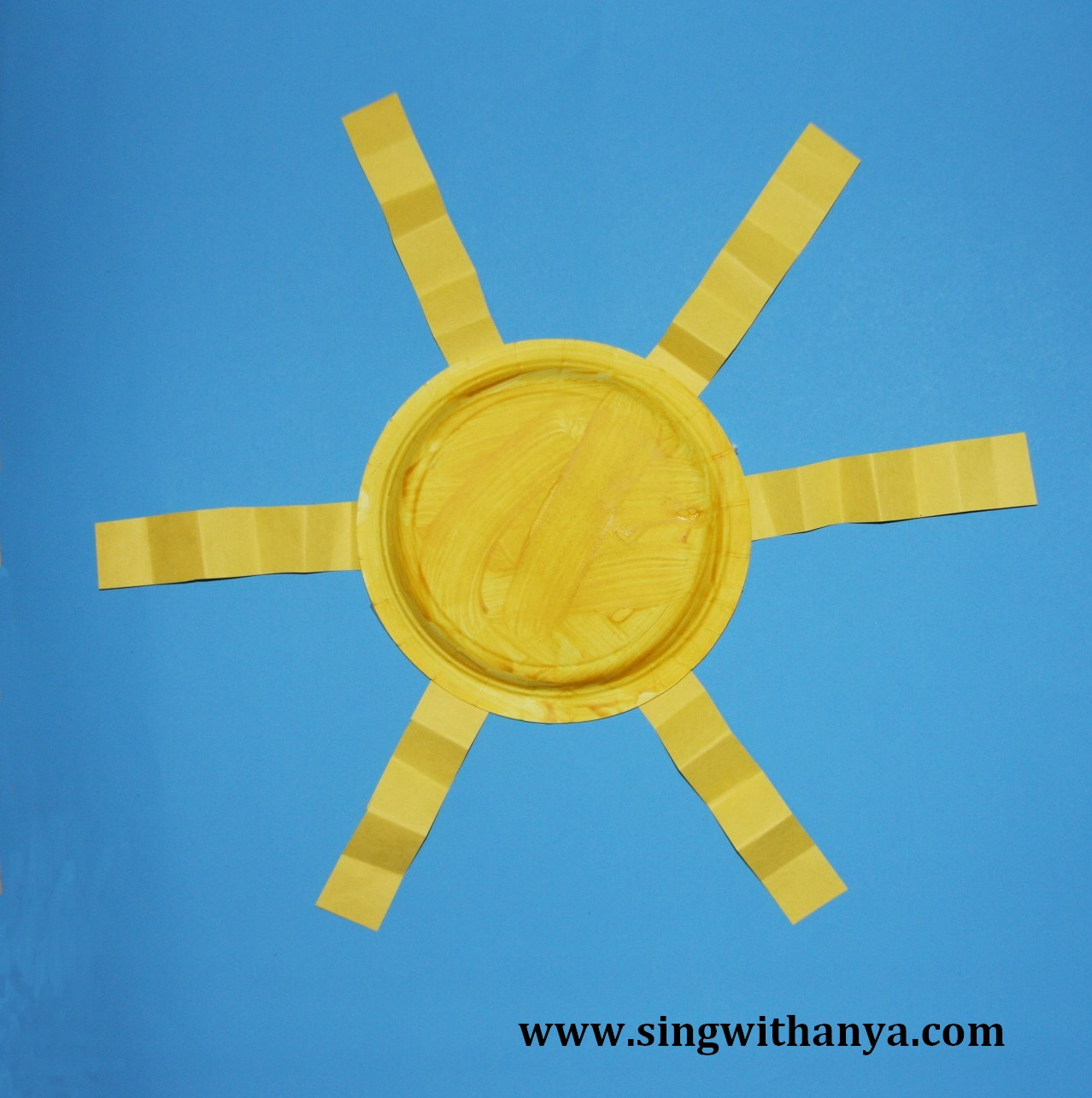 Sing And Learn With Anya Sun Easy Plate Project For Kids