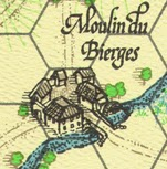 The Bierge watermill can be seen on the map for La Bataille de Wavre published by Clash of Arms