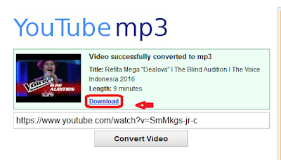 Convert Video menjdi Mp3