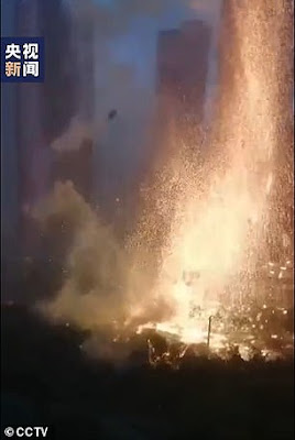 Huge Fireball Hits China as Lightning Strikes Across Their Country - God's Judgement Has Come
