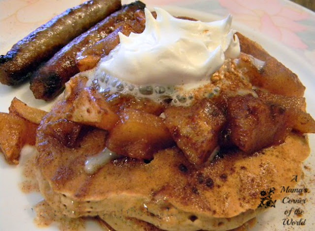 Gingerbread Pancakes with Roasted Cinnamon Apples Recipe ...