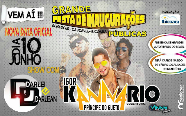 Confira imagens da festa de inaugurações em Renascer, Cascavel, Ibicoara