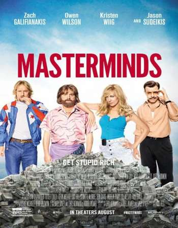 Poster Of Masterminds 2016 English 700MB HDTS x264 Free Download Watch Online downloadhub.net
