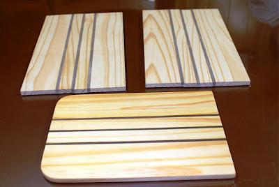 gỗ thông ghép sọc đen