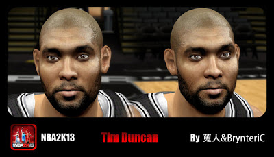 NBA 2K13 Tim Duncan Cyberface Patch
