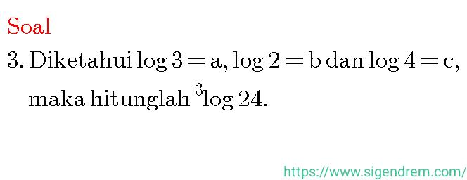 Contoh Soal Logaritma