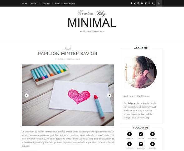 Minimal blogger teması, ücretsiz blogger teması, bedava blogger teması