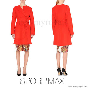 Countess Sophie  wore Sportmax Maesa wool and angora blend coat