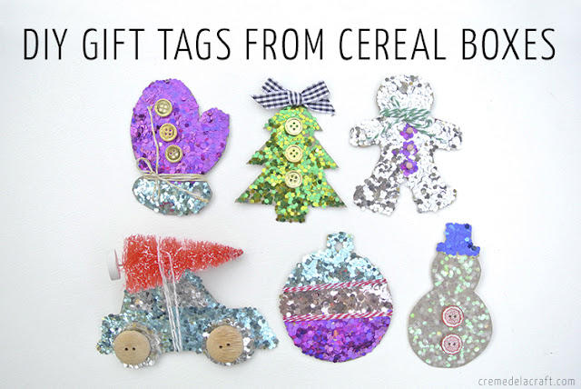Christmas Gift Tags Diy.Diy Holiday Gift Tags From Cereal Boxes Video Tutorial