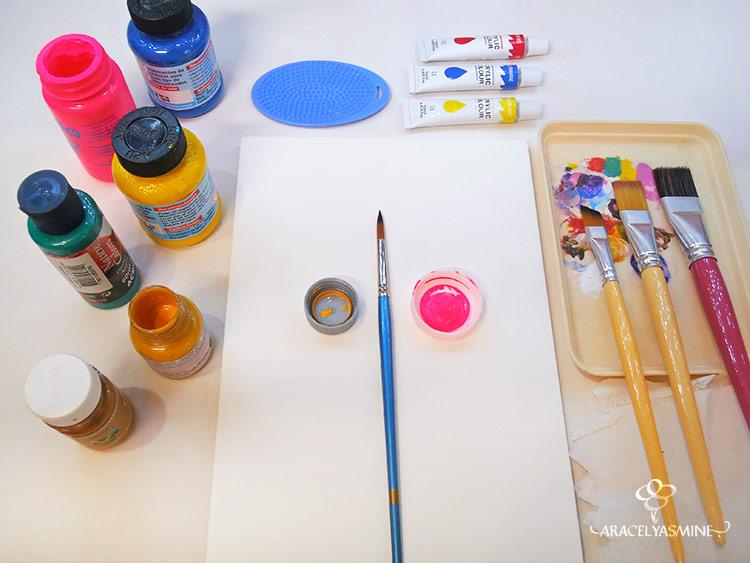 el arte de pintar con acrilicos materiales