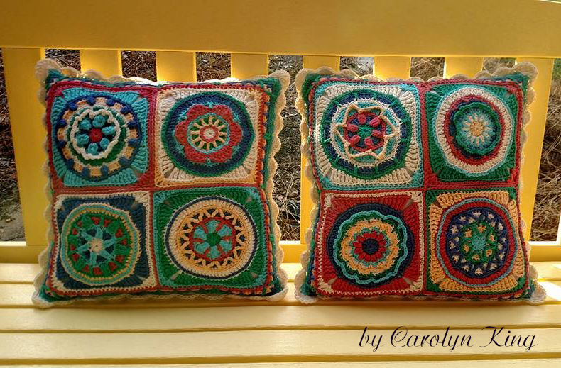 Circles of the Sun pillow by Carolyn King