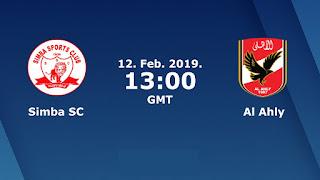 اون لاين مشاهدة مباراة الاهلي وسيمبا التنزاني بث مباشر اليوم 12-2-2019 دوري ابطال افريقيا اليوم بدون تقطيع