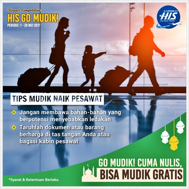 Ceritakan semenarik mungkin persiapannya dan dapatkan kesempatan mudik gratis dari H.I.S. Travel Indonesia untuk pemenang utama!