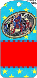 Justice League Free Printable Bookmarks.
