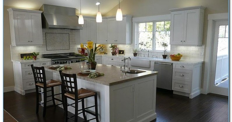 √√ #KITCHEN With White CABINETS And Dark Floors | Home Interior Exterior Decor & Design Ideas