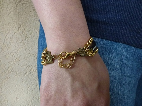 How To Make A Multistrand Bracelet With Safety Chain The Beading Gem S Journal