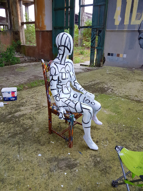 Minimalist Art - Industrial Landscape - Graffiti - Mannequin