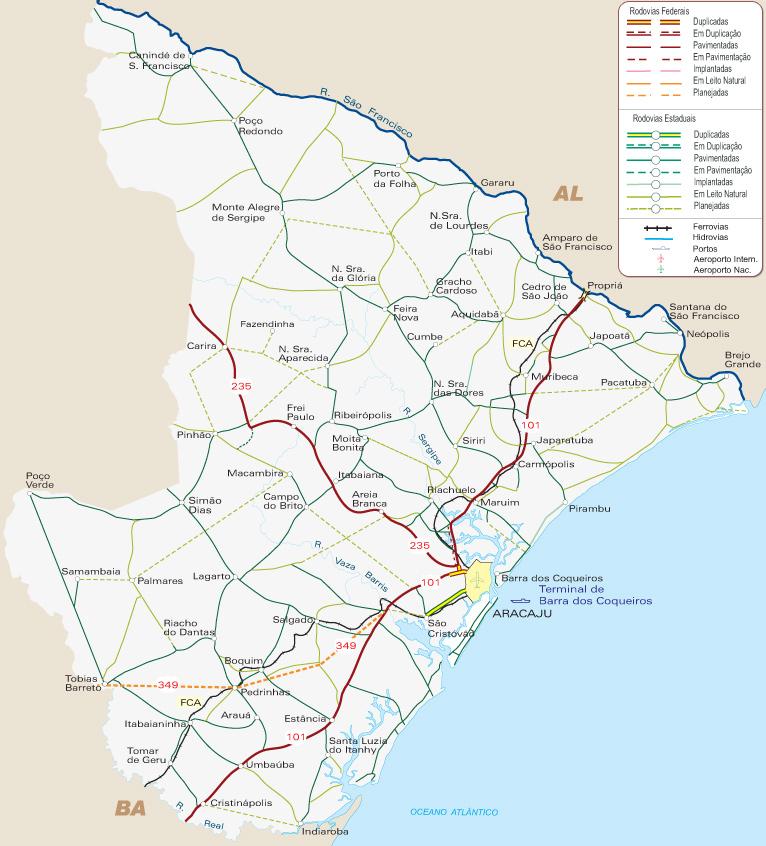 Sergipe | Mapas Geográficos de Sergipe